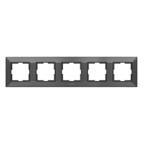 Рамка*5 универсальная дымчатая Panasonic Arkedia Slim (WNTF08052DG-BY)