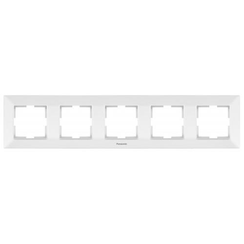 Рамка*5 универсальная белая Panasonic Arkedia Slim (WNTF08052WH-BY)