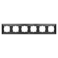 Рамка*6 универсальная черная