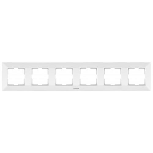 Рамка*6 универсальная белая Panasonic Arkedia Slim (WNTF08062WH-BY)