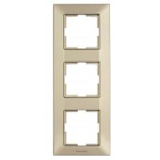 Рамка*3 вертикальная бронзовая