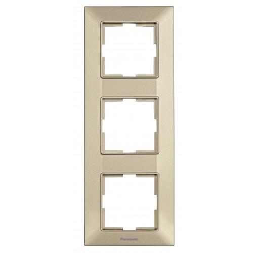 Рамка*3 вертикальная бронзовая Panasonic Arkedia Slim (WNTF08132BR-BY)
