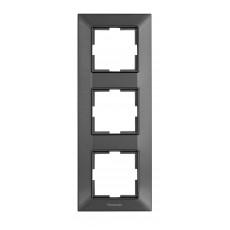 Рамка*3 вертикальная дымчатая
