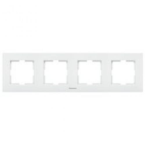 Рамка 4-постовая белая Panasonic Karre plus (WKTF08042WH-BY)