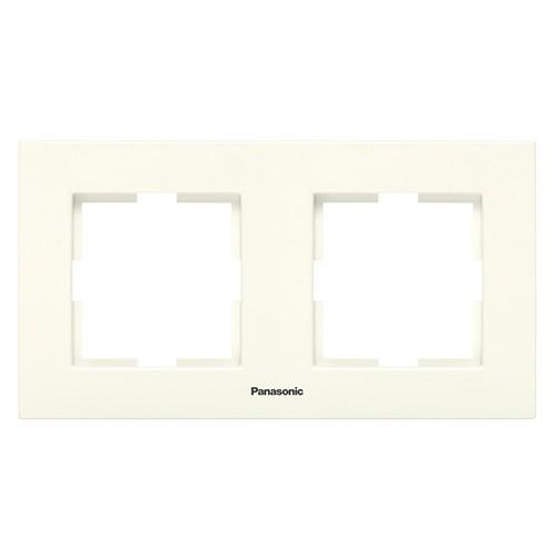 Рамка 2-постовая кремовая Panasonic Karre plus (WKTF08022BG-BY)