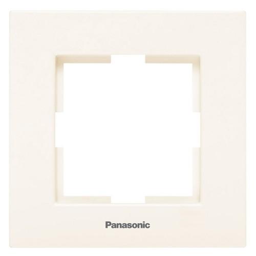 Рамка 1-постовая кремовая Panasonic Karre plus (WKTF08012BG-BY)