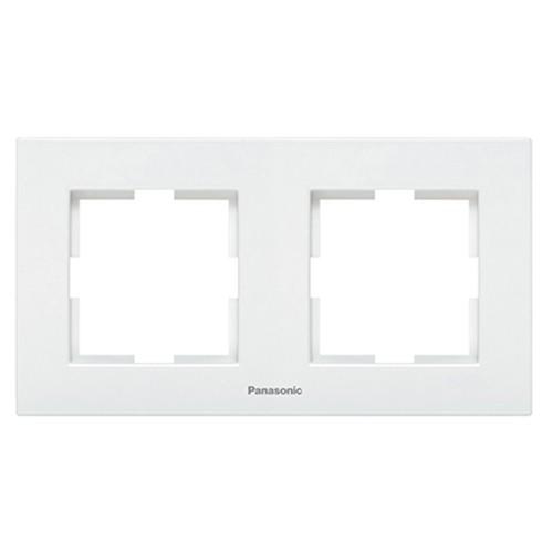 Рамка 2-постовая белая Panasonic Karre plus (WKTF08022WH-BY)