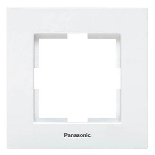Рамка 1-постовая белая Panasonic Karre plus (WKTF08012WH-BY)