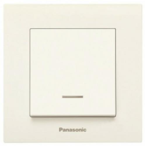 Выключатель 1-кл с индикацией (без рамки) кремовый Panasonic Karre plus (WKTT00022BG-BY)