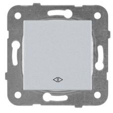 Выключатель 1-кл перекрестный серебро