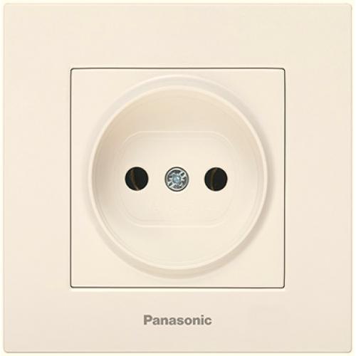 Розетка (без рамки) кремовая Panasonic Karre plus (WKTT02012BG-BY)
