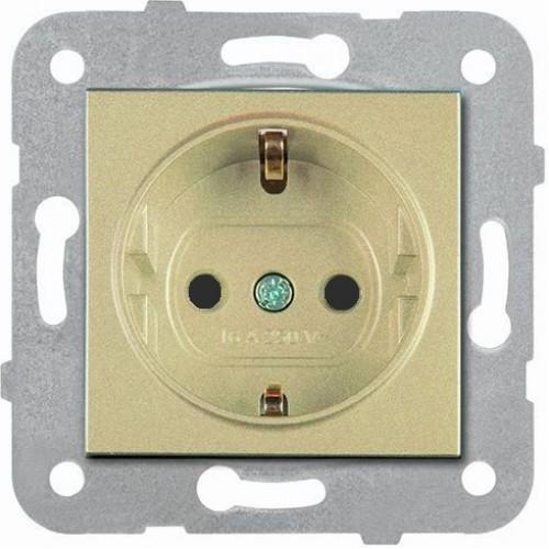Розетка с/з (без рамки) бронза Panasonic Karre plus (WKTT02022BR-BY)
