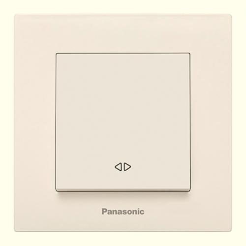 Выключатель 1-кл перекрестный (без рамки) кремовый  Panasonic Karre plus (WKTT00052BG-BY)