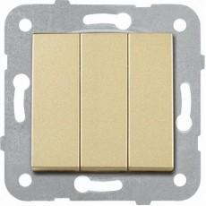 Выключатель 3-кл (без рамки) бронза