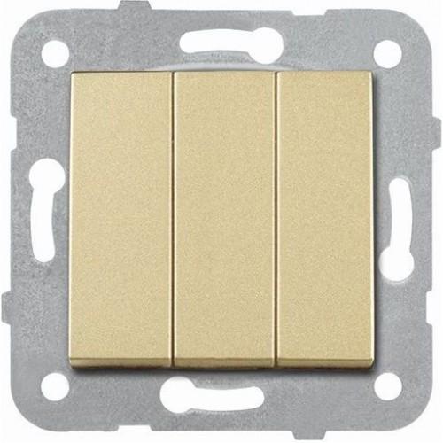 Выключатель 3-кл (без рамки) бронза Panasonic Karre plus (WKTT00152BR-BY)