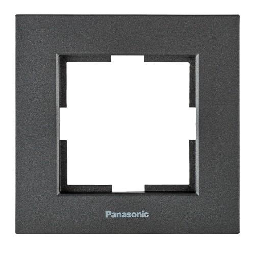 Рамка 1-постовая дымчатый Panasonic Karre plus (WKTF08012DG-BY)