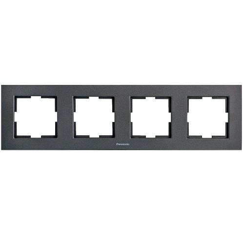 Рамка 4-постовая дымчатый Panasonic Karre plus (WKTF08042DG-BY)