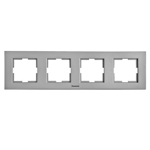 Рамка 4-постовая серебро Panasonic Karre plus (WKTF08042SL-BY)