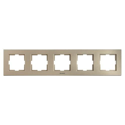 Рамка 5-постовая бронза Panasonic Karre plus (WKTF08052BR-BY)