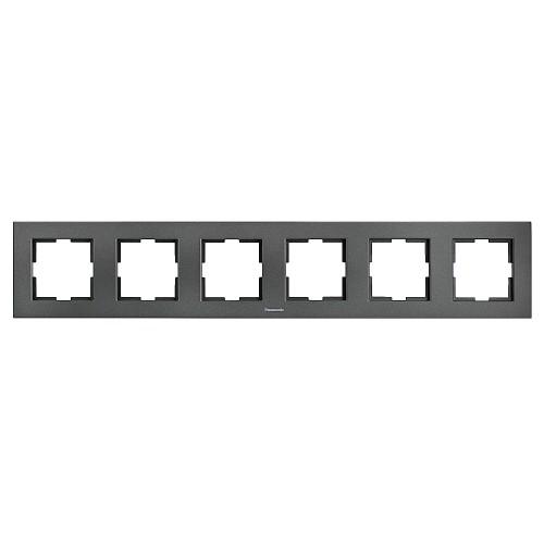 Рамка 6-постовая дымчатый Panasonic Karre plus (WKTF08062DG-RU)