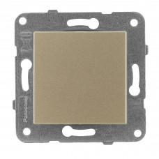 Выключатель 1-кл (без рамки) бронза