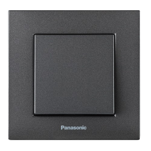 Выключатель 1-кл (без рамки) дымчатый Panasonic Karre plus (WKTT00012DG-BY)