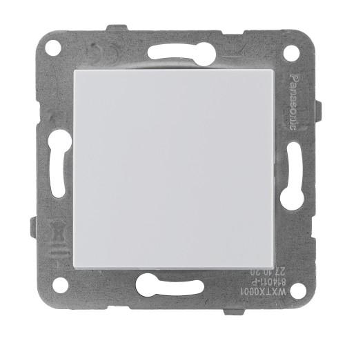 Выключатель 1-кл (без рамки) белый  Panasonic Karre plus (WKTT00012WH-BY)