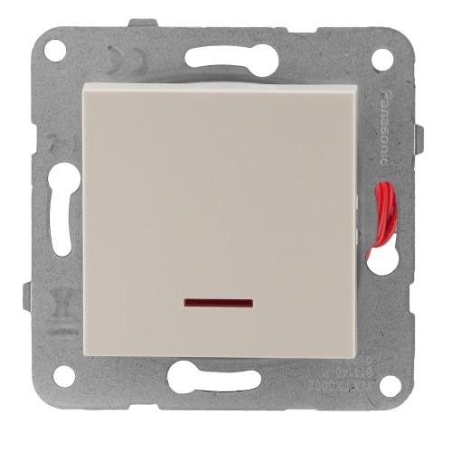 Выключатель 1-кл с индикацией кремовый Panasonic Arkedia Slim (WKTT00022BG-BY)