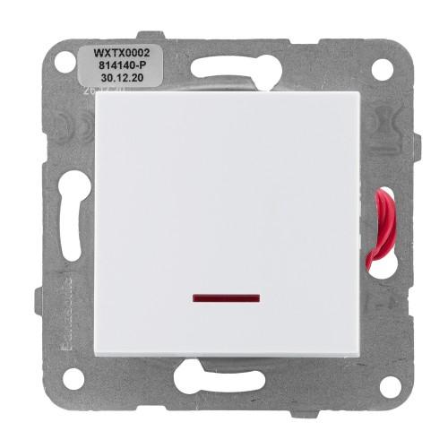 Выключатель 1-кл с индикацией белый Panasonic Arkedia Slim (WKTT00022WH-BY)