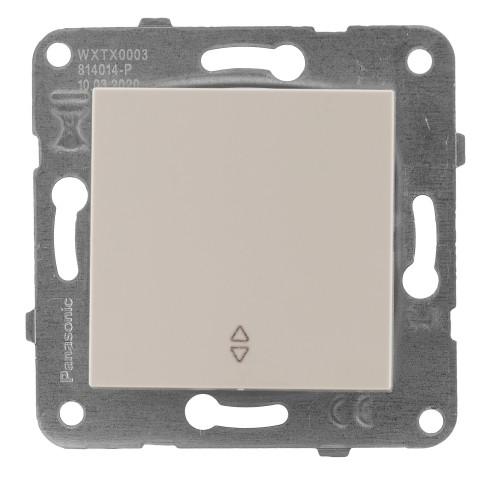 Выключатель 1-кл проходной кремовый Panasonic Arkedia Slim (WKTT00032BG-BY)