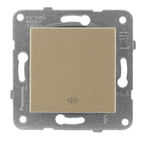 Выключатель 1-кл перекрестный (без рамки) бронза Panasonic Karre plus (WKTT00052BR-BY)