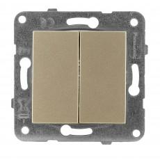 Выключатель 2-кл (без рамки) бронза