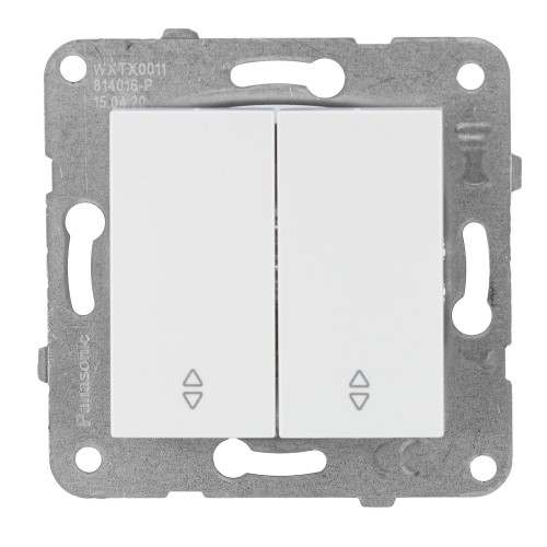 Выключатель 2-кл (без рамки) проходной белый  Panasonic Karre plus (WKTT00112WH-BY)