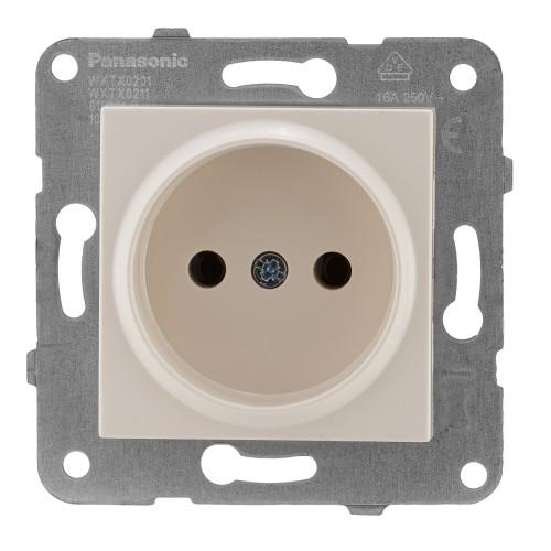 Розетка кремовая Panasonic Arkedia Slim (WKTT02012BG-BY)