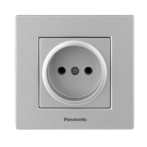 Розетка (без рамки) серебро Panasonic Karre plus (WKTT02012SL-BY)