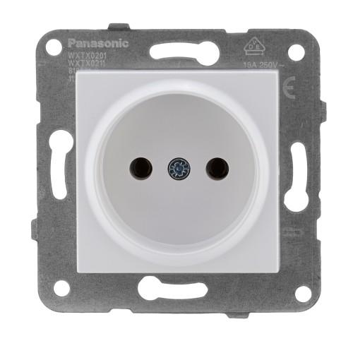 Розетка белая (без рамки)  Panasonic Karre plus (WKTT02012WH-BY)