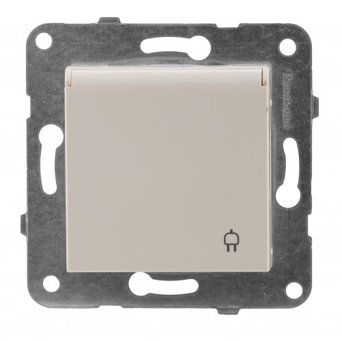 Розетка с крышкой кремовая Panasonic Arkedia Slim (WKTT02102BG-BY)