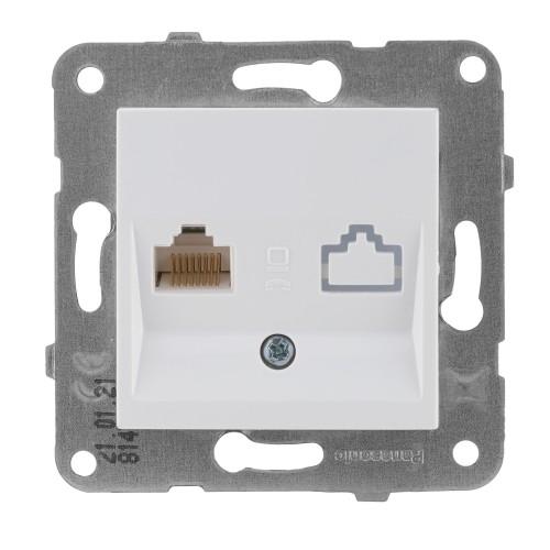 Розетка компьютерная белая Panasonic Arkedia Slim (WKTT04042WH-BY)
