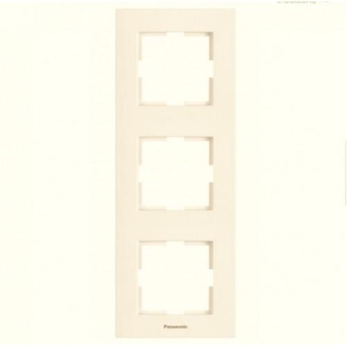 Рамка*3 вертикальная кремовая Panasonic Karre plus (WKTF08132BG-BY)