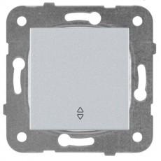 Выключатель 1-кл проходной серебро