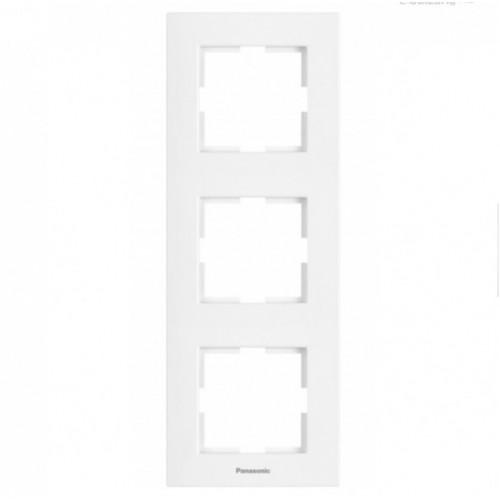 Рамка*3 вертикальная белая Panasonic Karre plus (WKTF08132WH-BY)