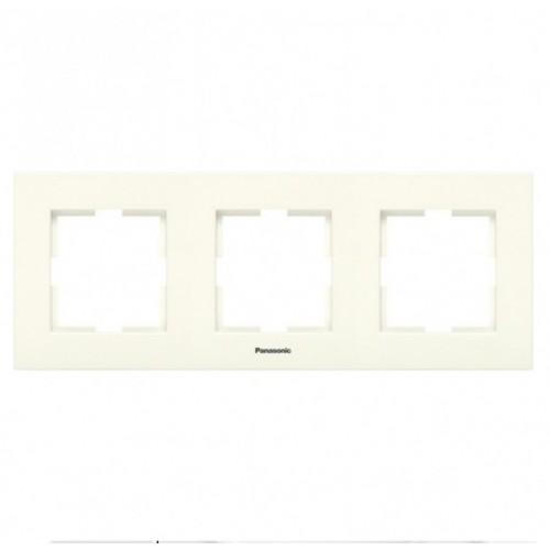 Рамка 3-постовая кремовая Panasonic Karre plus (WKTF08032BG-BY)