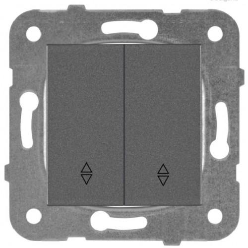 Выключатель 2-кл проходной дымчатый Panasonic Karre plus (WKTT00112DG-BY)