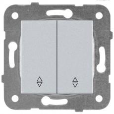 Выключатель 2-кл проходной серебро