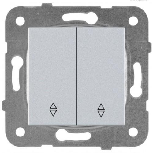 Выключатель 2-кл проходной (без рамки) серебро Panasonic Karre plus (WKTT00112SL-BY)