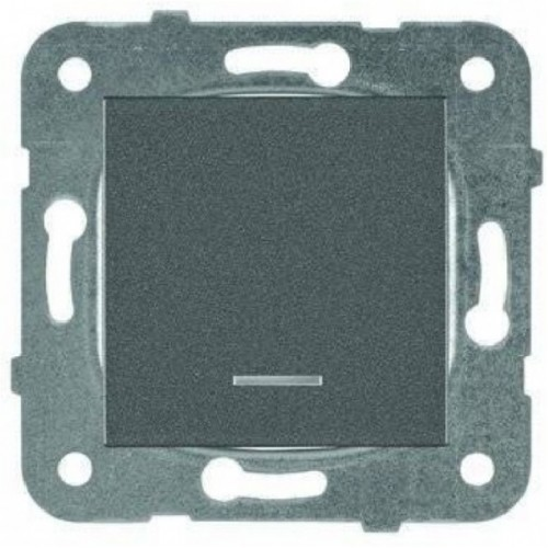 Выключатель 1-кл с индикацией дымчатый Panasonic Karre plus (WKTT00022DG-BY)