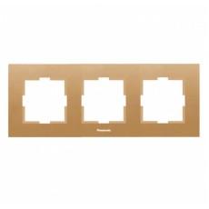 Рамка 3-постовая бронза