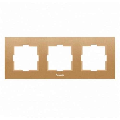 Рамка 3-постовая бронза Panasonic Karre plus (WKTF08032BR-BY)