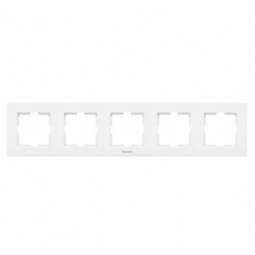 Рамка 5-постовая белая Panasonic Karre plus (WKTF08052WH-BY)