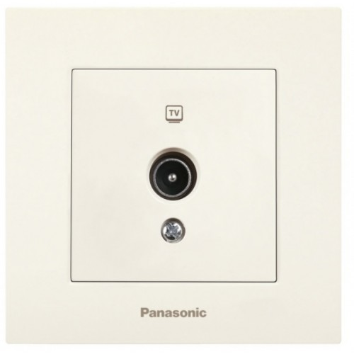 Розетка ТВ (оконечная) (без рамки) кремовая  Panasonic Karre plus (WKTT04512BG-BY)